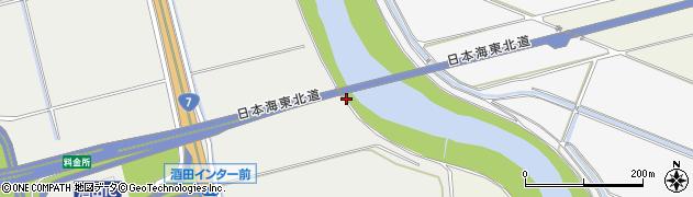 山形県酒田市広野堰東周辺の地図