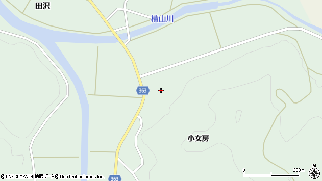 山形県酒田市田沢小女房48周辺の地図
