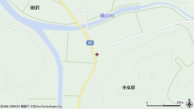 山形県酒田市田沢小女房周辺の地図