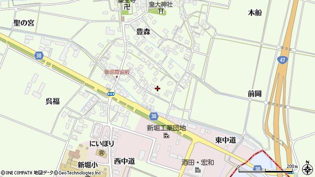山形県酒田市新堀豊森25周辺の地図