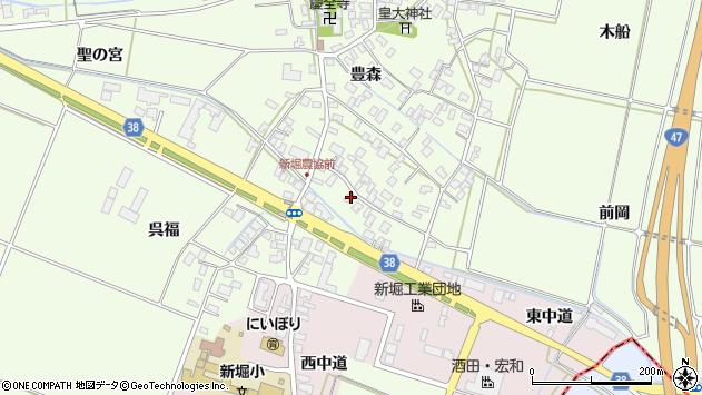山形県酒田市新堀豊森17周辺の地図