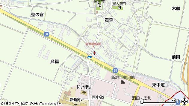 山形県酒田市新堀豊森210周辺の地図