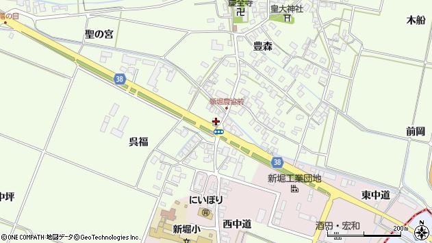 山形県酒田市新堀呉福112周辺の地図