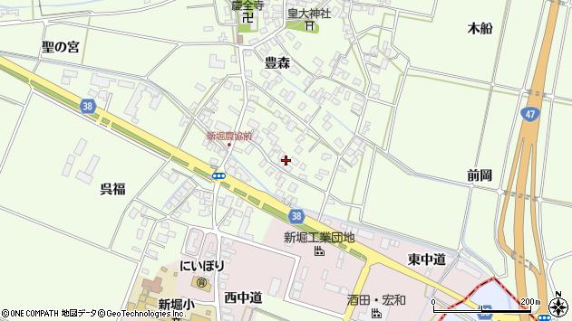 山形県酒田市新堀豊森19周辺の地図