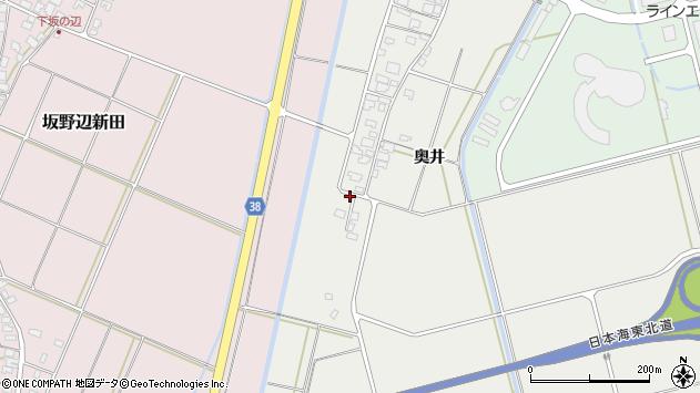 山形県酒田市広野奥井204周辺の地図