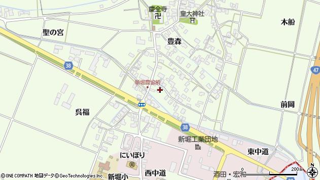 山形県酒田市新堀豊森15周辺の地図