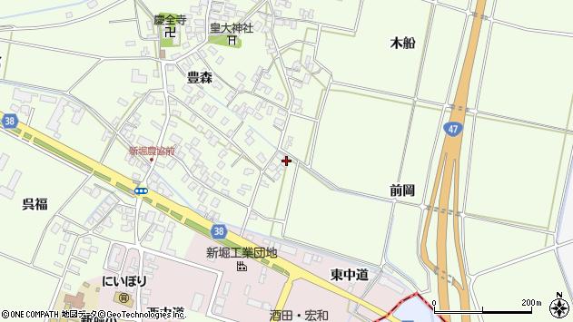 山形県酒田市新堀豊森56周辺の地図
