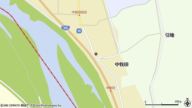 山形県酒田市中牧田前田59周辺の地図