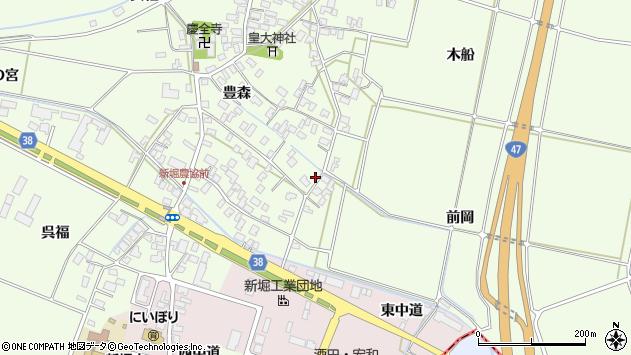 山形県酒田市新堀豊森55周辺の地図