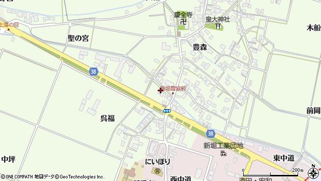 山形県酒田市新堀呉福28周辺の地図