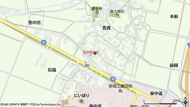 山形県酒田市新堀豊森205周辺の地図