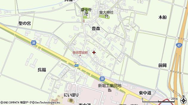 山形県酒田市新堀豊森14周辺の地図