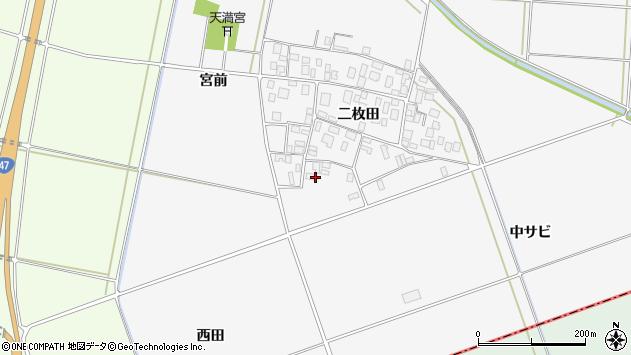 山形県酒田市丸沼二枚田28周辺の地図