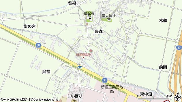 山形県酒田市新堀豊森12周辺の地図