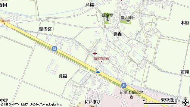 山形県酒田市新堀呉福21周辺の地図