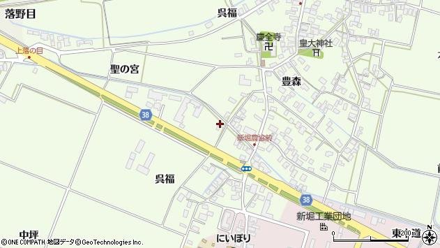 山形県酒田市新堀呉福30周辺の地図