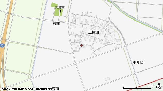 山形県酒田市丸沼二枚田30周辺の地図