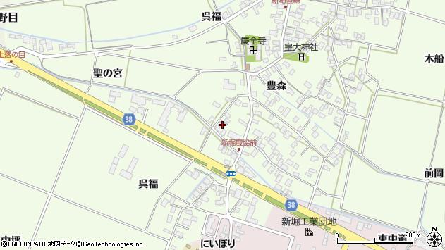 山形県酒田市新堀呉福20周辺の地図