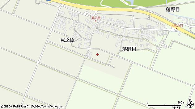 山形県酒田市落野目加久地周辺の地図