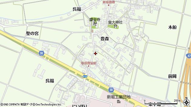 山形県酒田市新堀豊森11周辺の地図