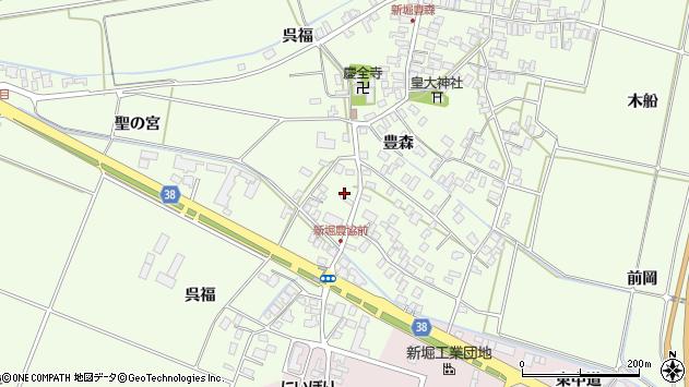 山形県酒田市新堀豊森3周辺の地図