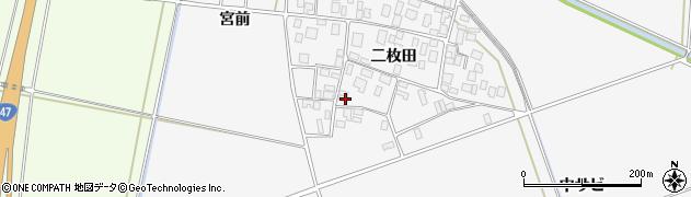 山形県酒田市丸沼二枚田38周辺の地図