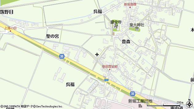山形県酒田市新堀呉福18周辺の地図