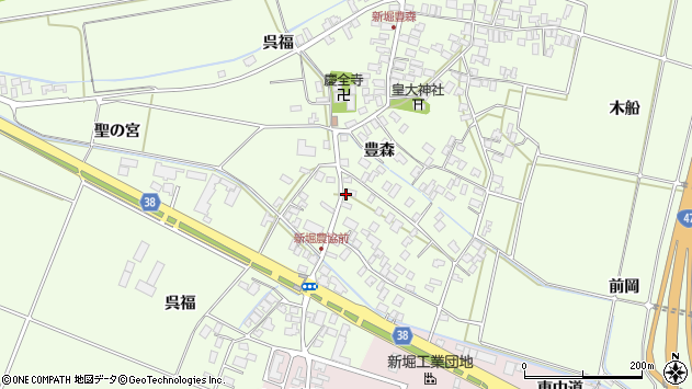 山形県酒田市新堀豊森10周辺の地図