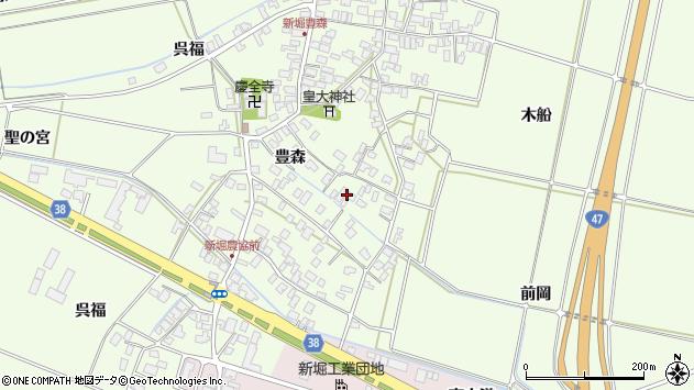 山形県酒田市新堀豊森58周辺の地図
