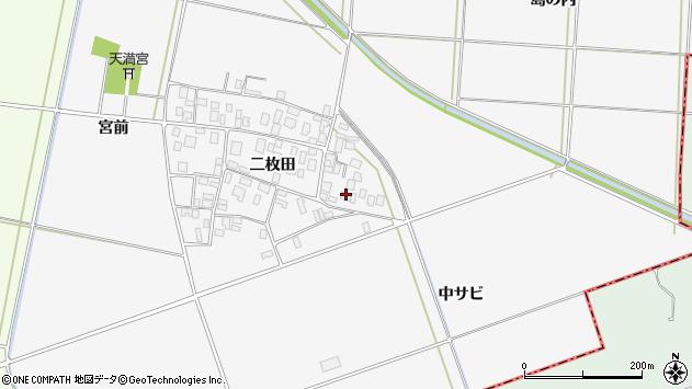 山形県酒田市丸沼二枚田66周辺の地図