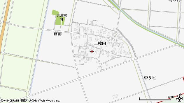 山形県酒田市丸沼二枚田37周辺の地図