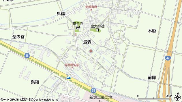 山形県酒田市新堀豊森52周辺の地図