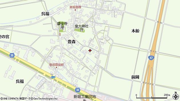 山形県酒田市新堀前岡208周辺の地図