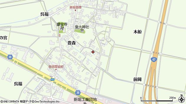 山形県酒田市新堀前岡周辺の地図