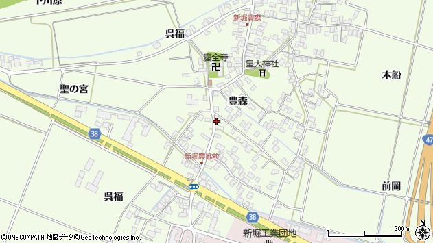 山形県酒田市新堀豊森27周辺の地図