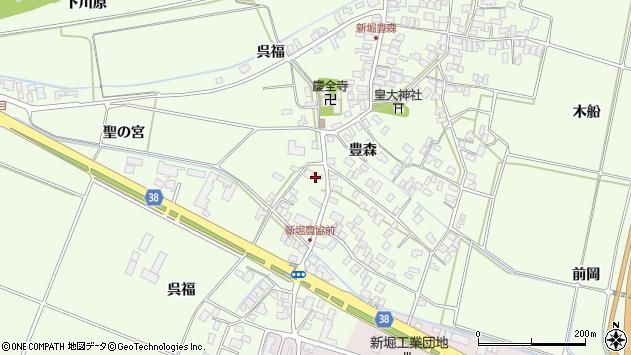 山形県酒田市新堀豊森7周辺の地図