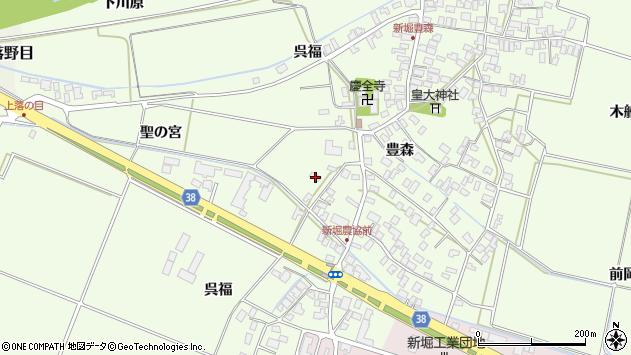 山形県酒田市新堀豊森1周辺の地図