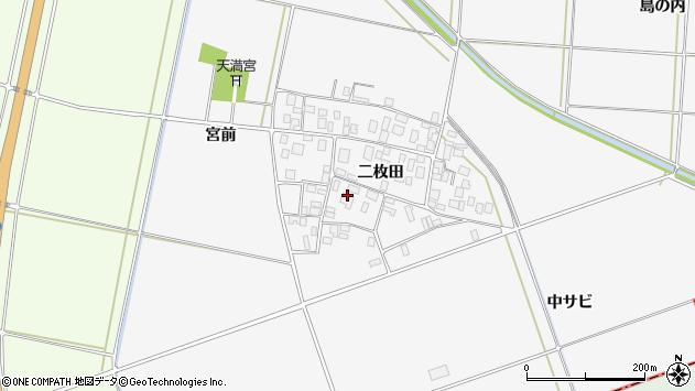 山形県酒田市丸沼二枚田周辺の地図