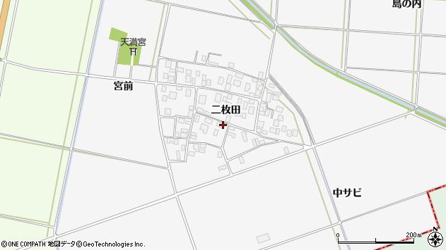 山形県酒田市丸沼二枚田36周辺の地図