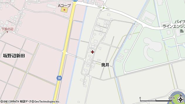 山形県酒田市広野奥井216周辺の地図