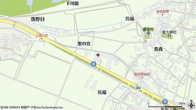 山形県酒田市新堀聖の宮37周辺の地図