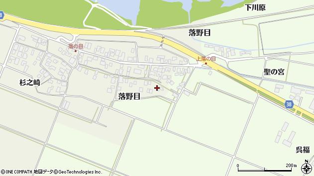 山形県酒田市落野目十寸穂103周辺の地図