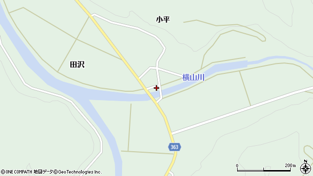 山形県酒田市田沢小平9周辺の地図
