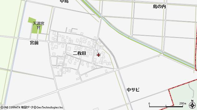 山形県酒田市丸沼二枚田71周辺の地図