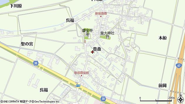 山形県酒田市新堀豊森50周辺の地図