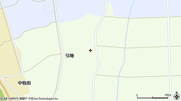 山形県酒田市引地宅地周辺の地図