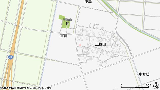 山形県酒田市丸沼二枚田50周辺の地図