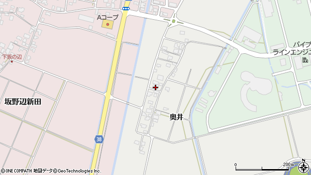 山形県酒田市広野奥井221周辺の地図