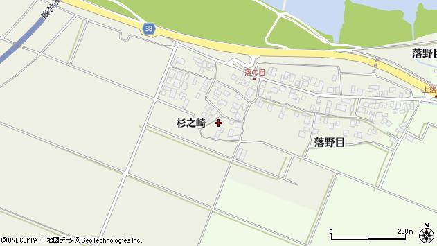 山形県酒田市落野目十寸穂4周辺の地図