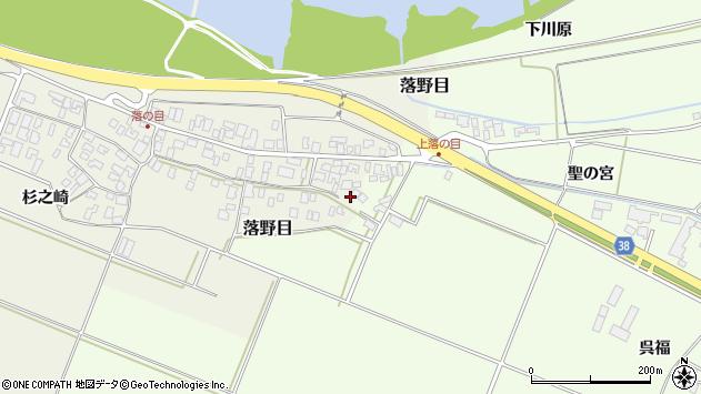 山形県酒田市落野目十寸穂109周辺の地図